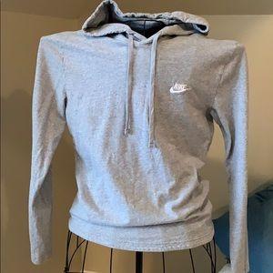 Long sleeve hooded T-shirt men's size medium